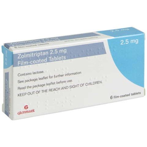 Zolmitriptan 2.5mg Tablets