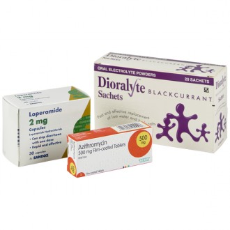 Azithromycin 500mg Tablets (Traveller's Diarrhoea Pack)