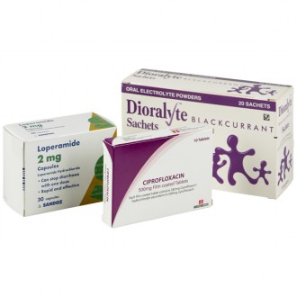 Ciprofloxacin 500mg Tablets (Traveller's Diarrhoea Pack)