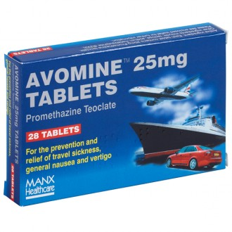 Avomine 25mg Tablets